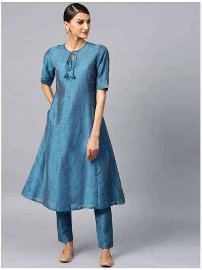 Blue designer kurta with pants