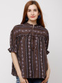 Women Brown Printed Top