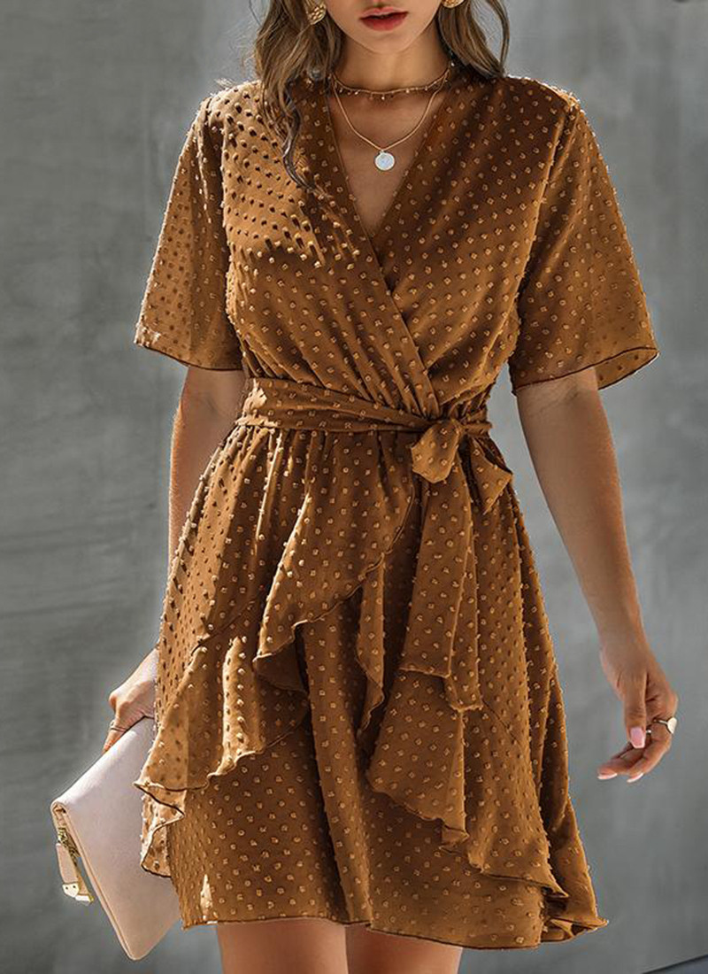 BeAvant Boho Polka Dot Wrap Dresses Women