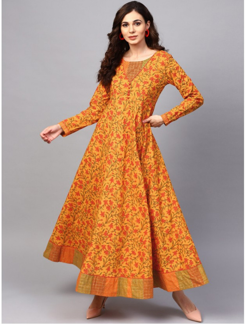 ORANGE Designer Long Dresses