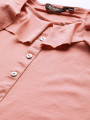 Women Peach-Coloured Solid Top