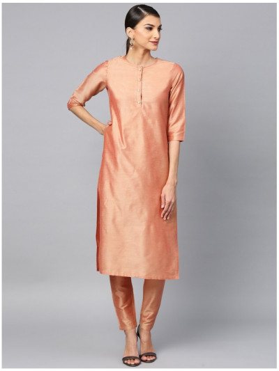 pink designer kurta with pants