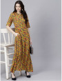 yellow Designer Long Dresses
