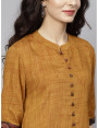 brown designer kurta with plazzo