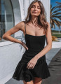 Hot solid Sleeveless camis Slim Fit dress