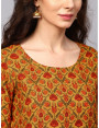 brown designer kurta with plazzo and dupatta