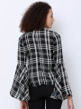 Women Black Checked Top