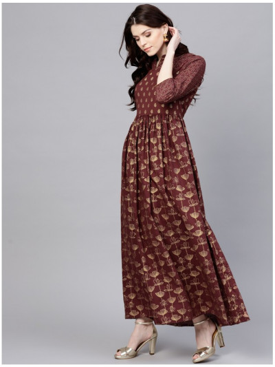 brown Designer Long Dresses