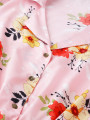Women Pink & Red Printed Basic Jumpsuit
