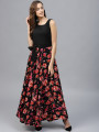 Black Sleeveless designer long dress