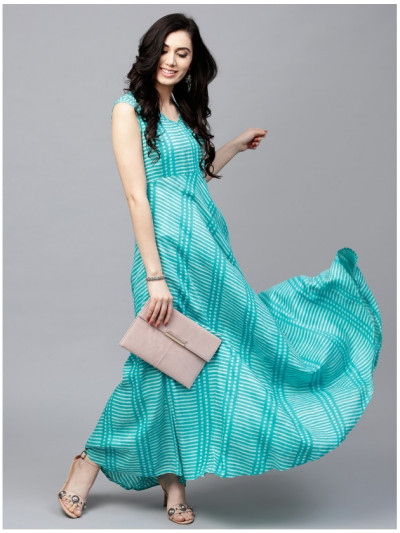 blue Designer Long Dresses