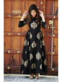 Black Designer Cotton Gown